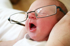 Clever baby yawning Royalty Free Stock Photo