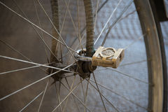 Clever bike lock. stock photography