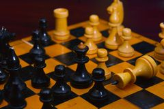 Clever board games - chess Royalty Free Stock Photography