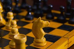 Clever board games - chess Stock Photography