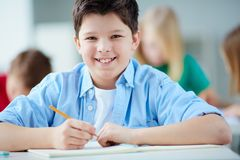 Clever boy Royalty Free Stock Image