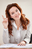 Clever business woman Royalty Free Stock Image