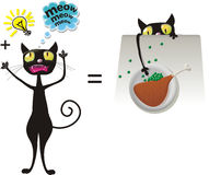 Clever cat Stock Images