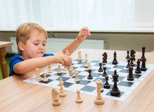 Clever chess player Royalty Free Stock Photo
