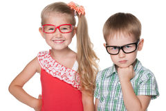 Clever children Royalty Free Stock Image