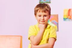 Clever confident portrait of a boy Stock Image
