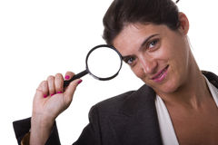 Clever detective businesswoman Royalty Free Stock Photography