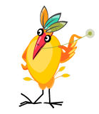 Clever exotic bird character Stock Photos
