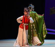 "Clever eyes-Cui Yingying 's disease-Kunqu Opera ""the West Chamber"" Royalty Free Stock Photo"
