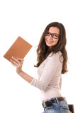 Clever girl with books Royalty Free Stock Photography