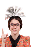 Сlever girl in glasses Royalty Free Stock Image