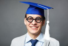 Clever graduate Stock Photos