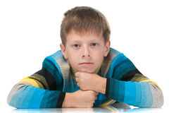 Clever handsome young boy Royalty Free Stock Photo