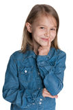 Clever little girl Stock Photo