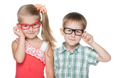 Clever little kids Royalty Free Stock Photos