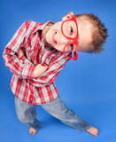 Clever nerdy boy. Cheerful five years old boy Stock Photography