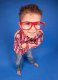 Clever nerdy boy Stock Photo