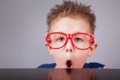Clever nerdy boy Royalty Free Stock Images