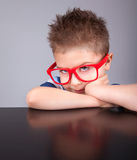 Clever nerdy boy Royalty Free Stock Photography