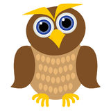 Clever owl Stock Image