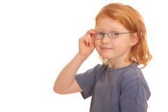 Clever red haired girl Royalty Free Stock Photography