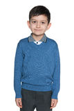 Clever schoolboy Stock Photo