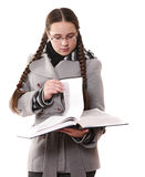Clever schoolgirl Royalty Free Stock Photos