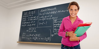 Clever schoolgirl Royalty Free Stock Photography