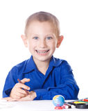 Clever schoolkid Stock Photo