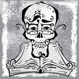 Clever skull. Royalty Free Stock Image