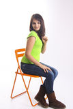 Clever student on classroom chair Stock Photography