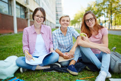 Clever students Stock Image
