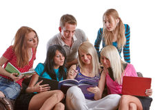 Clever students. Royalty Free Stock Photos