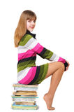 Clever teen girl stock image