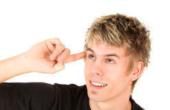 Clever teenage boy Royalty Free Stock Photos