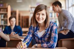 Clever teenager Stock Photo