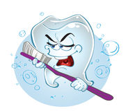 Clever tooth-  singing tooth Stock Photos