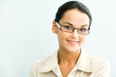 Clever woman Stock Image