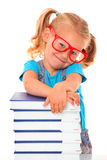 Clever young girl Stock Photo