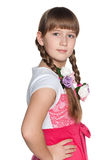 Clever young girl Royalty Free Stock Image