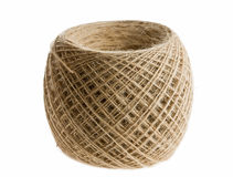 Clew of beige thread Stock Image