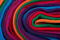 Clew of colorful textile fabric Royalty Free Stock Image