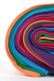 Clew del tessuto di tessile variopinto del cotone immagine stock