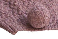 Clew e fazer crochê Fotografia de Stock Royalty Free