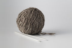 Clew of gray yarn Stock Photos