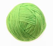 Free Clew Of Woolen Thread Isolated On A White Background. Green Ball Of Woolen Stock Image - 177832111