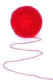 Clew rosso isolato su una priorità bassa bianca Immagini Stock Libere da Diritti