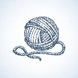 Big cute circle twisted tied ravel twine strand coil Royalty Free Stock Photography