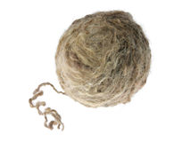 Clew of wool yarn Stock Photo