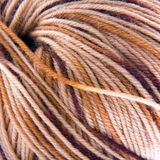 Clew of Woolen Yarn. Clew of Brown Woolen Yarn Macro Stock Photos